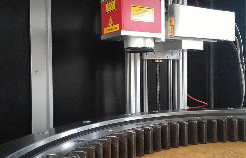 Marcatura laser ralla di rotazione EVOLMEC